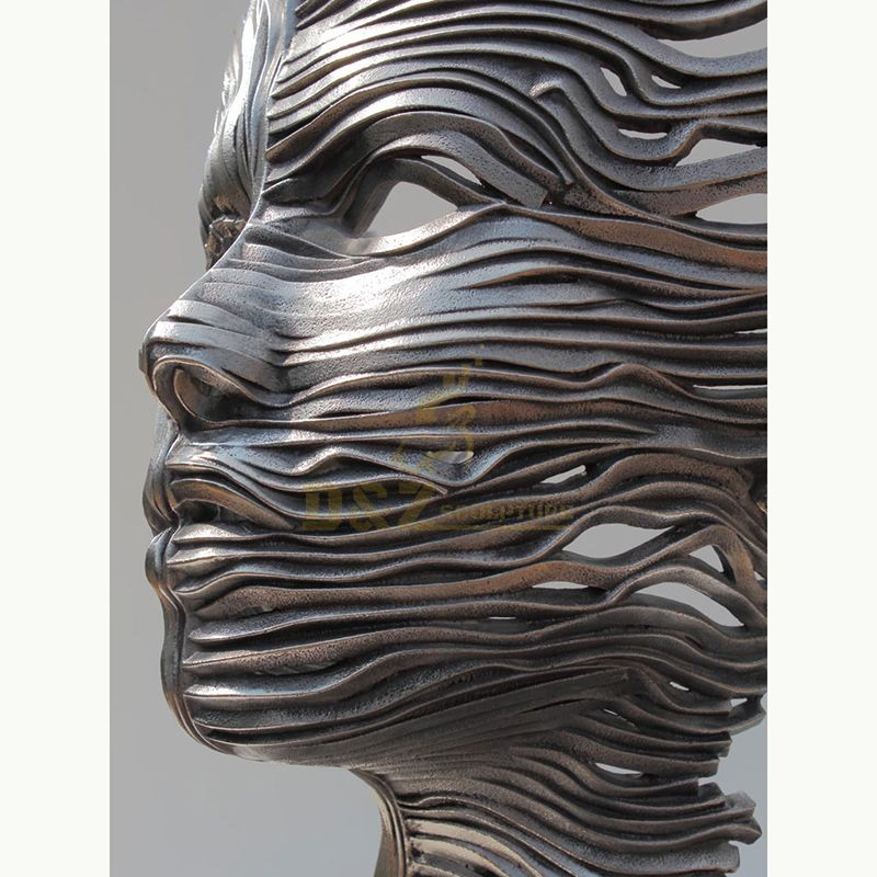 Stainless Steel Home Decoration Metal Art Face Sculpture