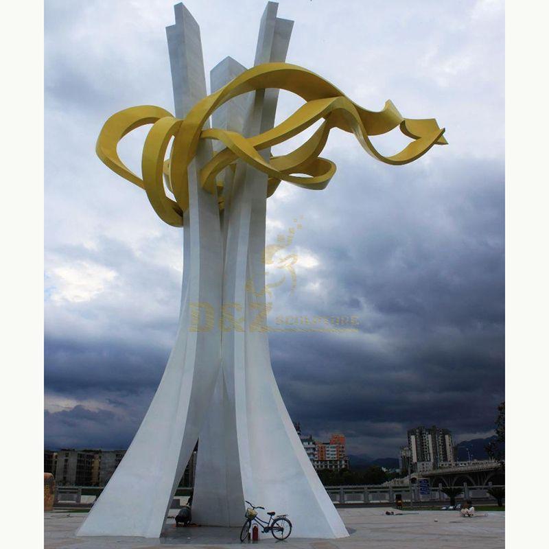 Outdoor Large Modern Stainless Steel Modern Art Sculpture