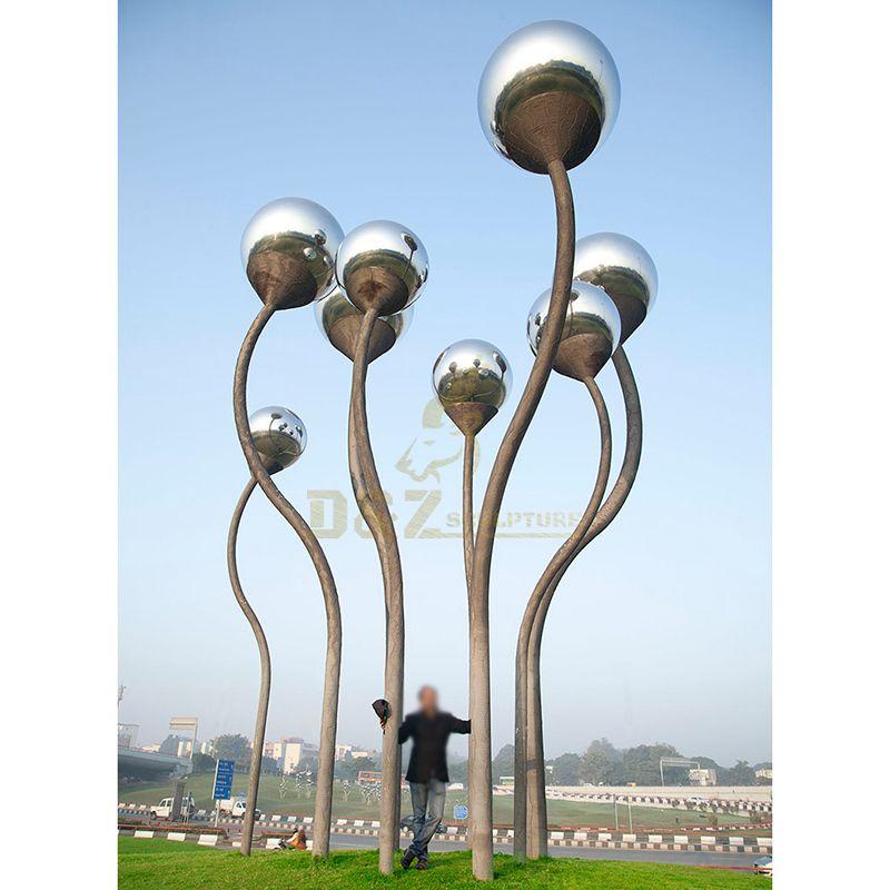 Abstract Stainless Steel Balloon Art Sculpture for Garden