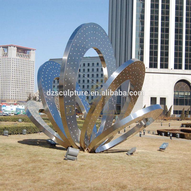 Outdoor Round Stainless Steel Metal Modern Art Sculpture