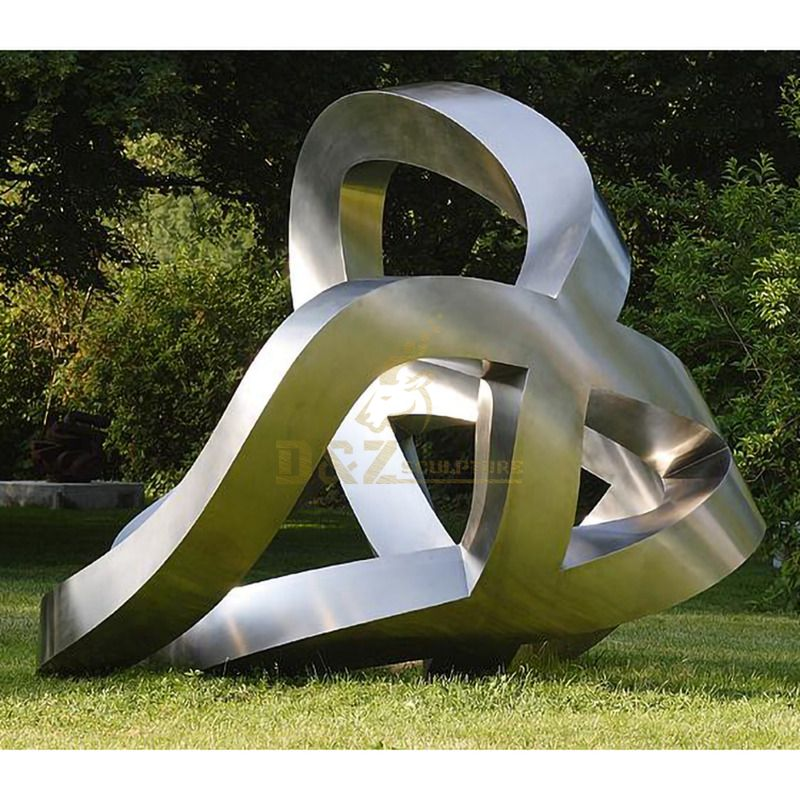Large Stainless Steel Outdoor Geometric Modern Abstract Sculpture
