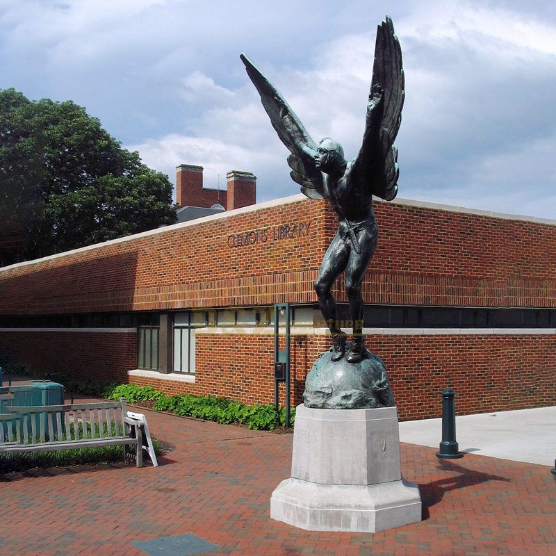 Life Size Religious Winged Bronze Angel Statue For Sale