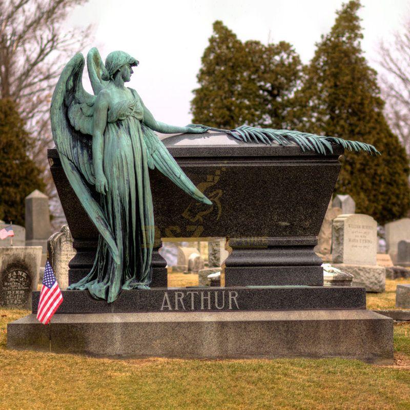 Popular Bronze Angel Tombstone Sculpture For Sale