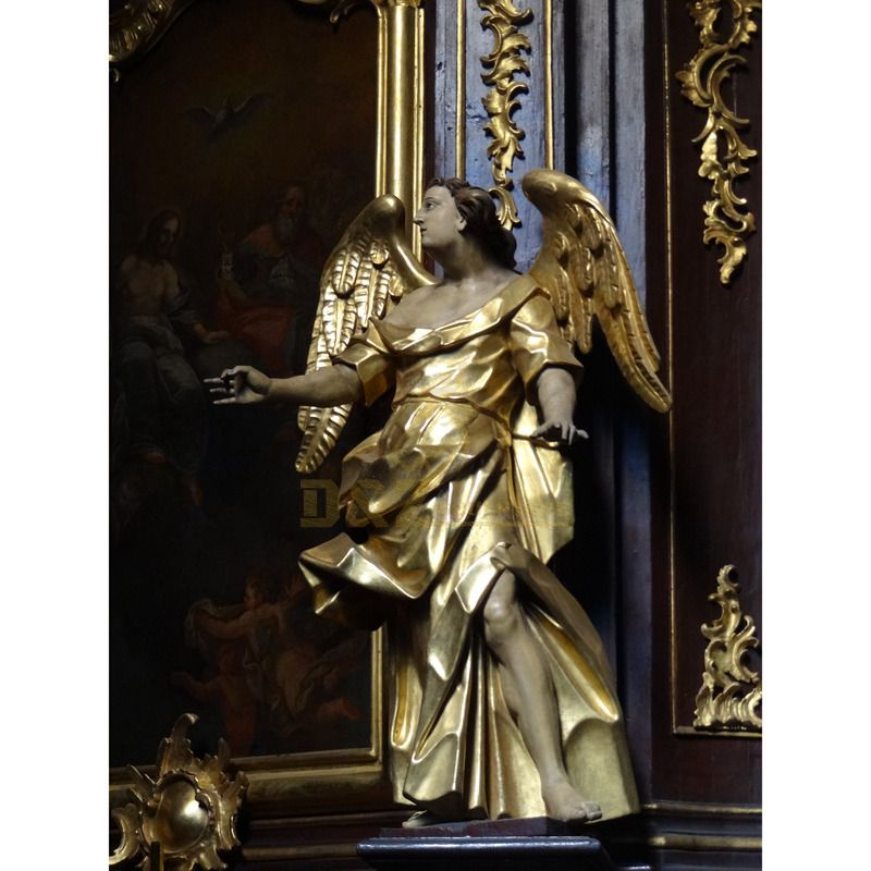 Large Outside Metal Crafts Bronze Winged Angel Statue