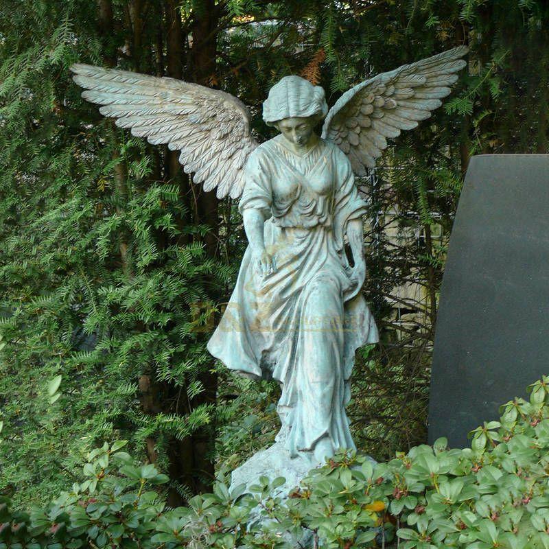 Metal Craft Bronze Weeping Tombstone Angel Statues