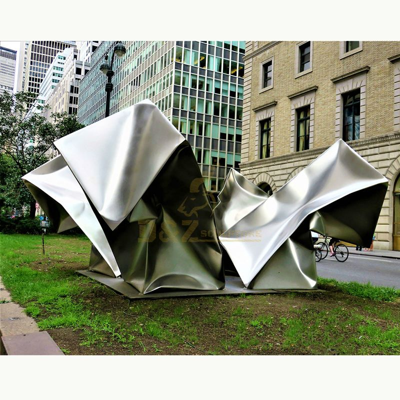 Modern Large Metal Art New Product Mirror Polished Stainless Steel Sculpture