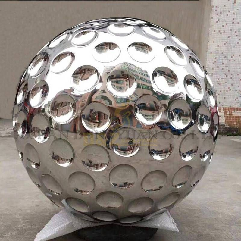 Mirror Polished Surface Stainless Steel Metal Ball Sculpture