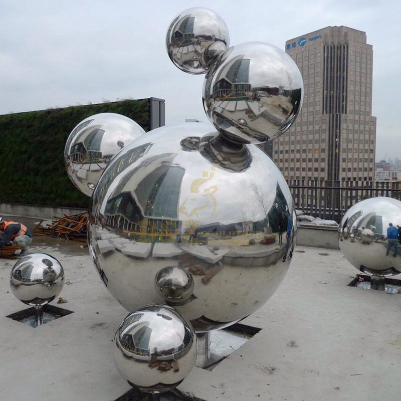 Large metal sphere stainless steel balls sculpture from factory
