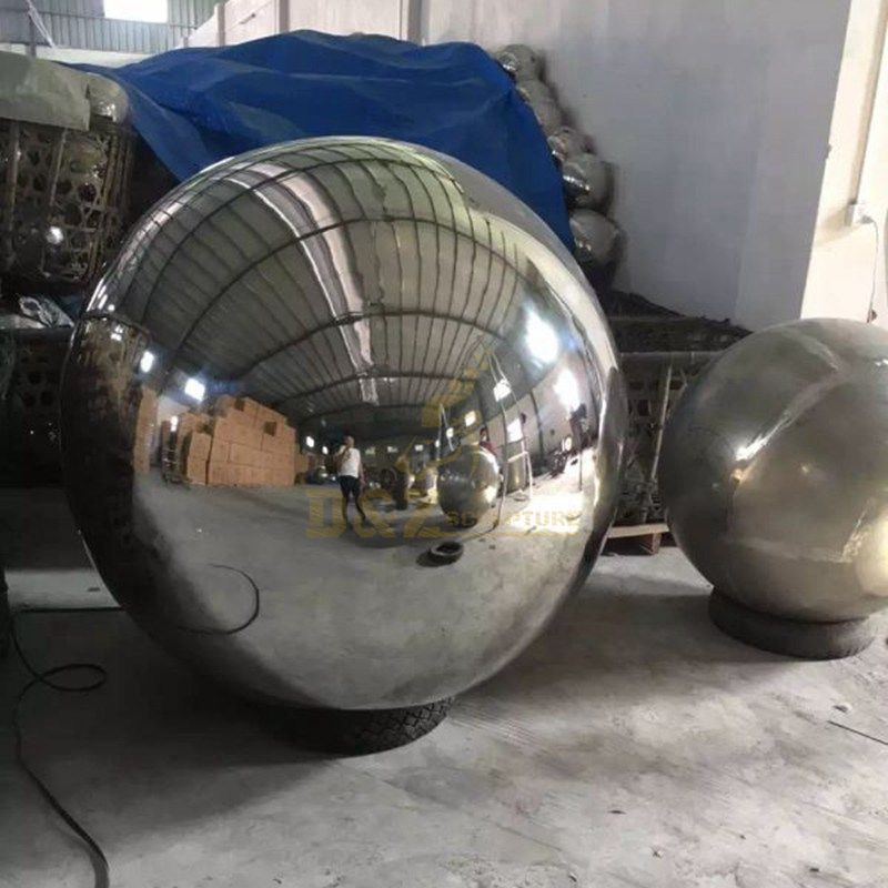 Large Metal Garden Hollow Stainless Steel Sphere Sculpture