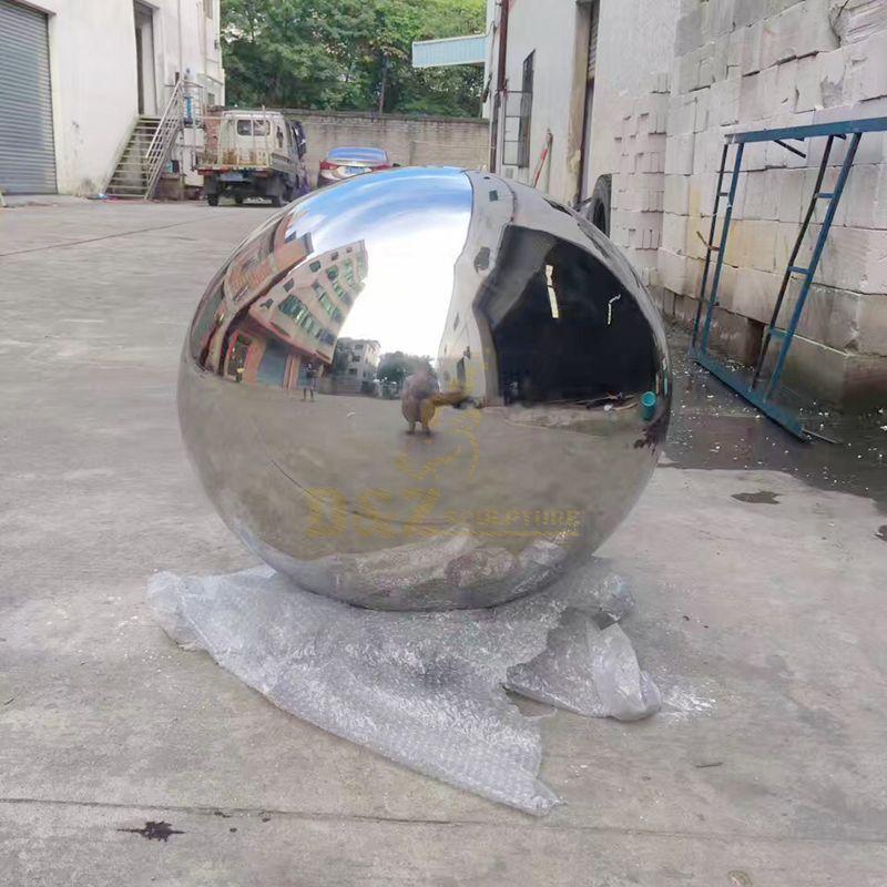 Modern Stainless Steel Ball Sculpture