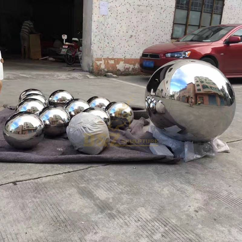New Design Stainless Steel Sphere Sculpture Metal Ball Sculpture