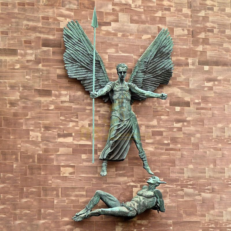 High Quality Decorative Religious Art Casting Bronze Angel Wings Sculpture