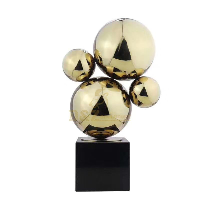 Modern Garden Stainless Steel Contemporary Hollow Ball Sculpture