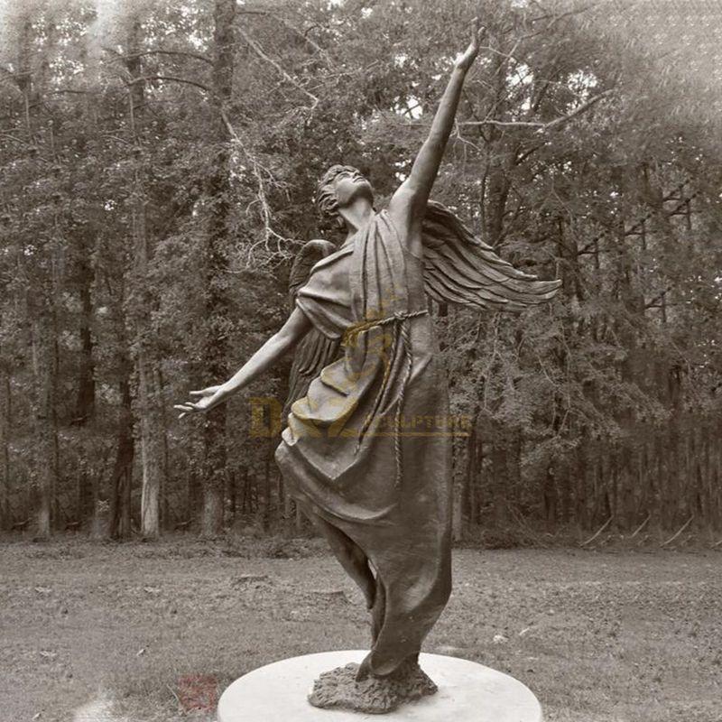 Life Size Bronze Winged Angel Boy Sculpture