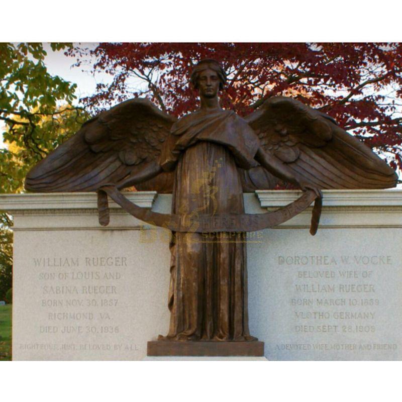 Religious Bronze Crying Angel Statue