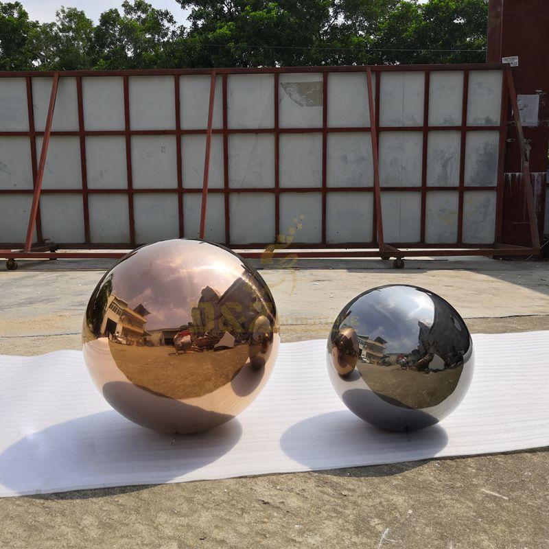 Metal Stainless Steel Sphere Sculpture For Garden Decoration