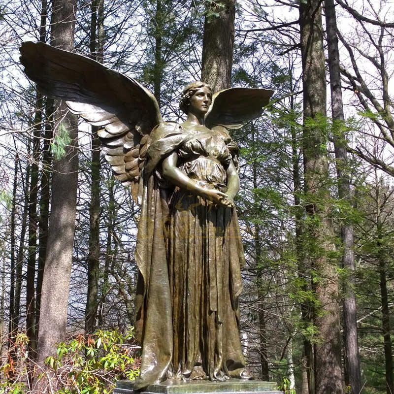 Life Size Bronze Statue Angel Statue For Garden Decoration