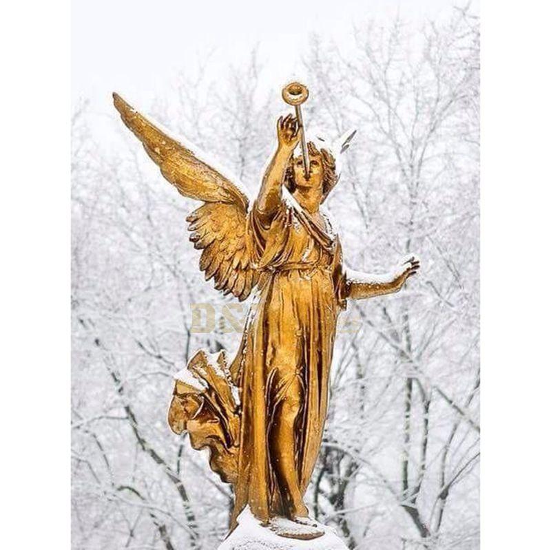 Large Bronze Angel Garden Decoration Sculptures