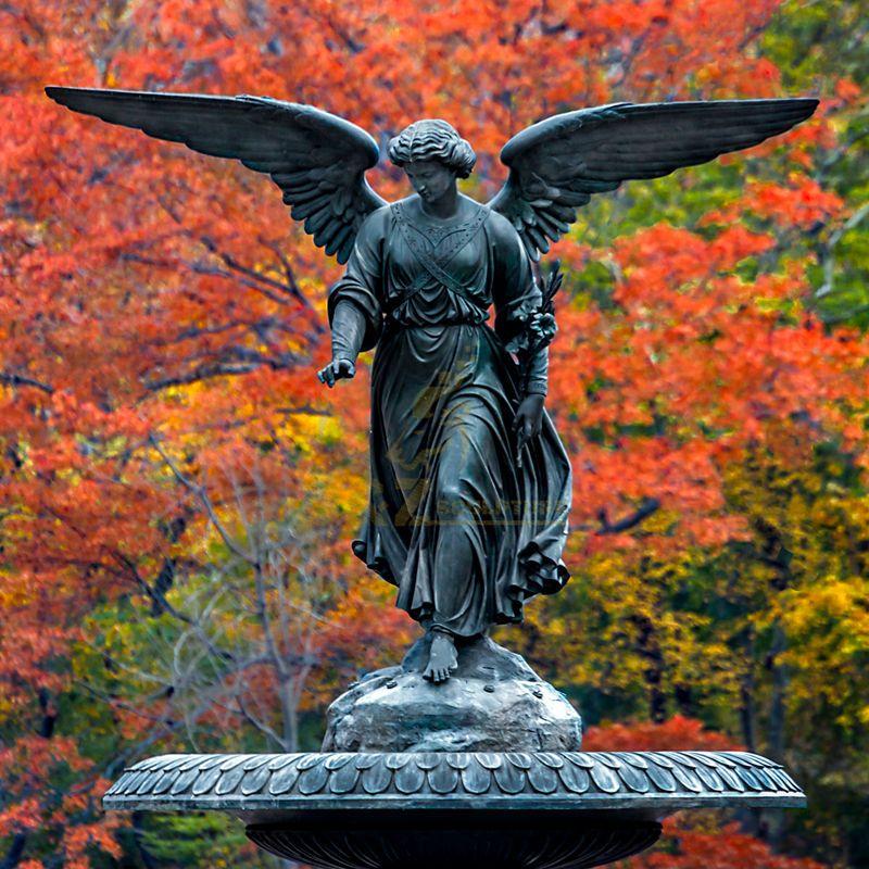 Life Size Bronze Statue Angel Statue For Garden Decoration