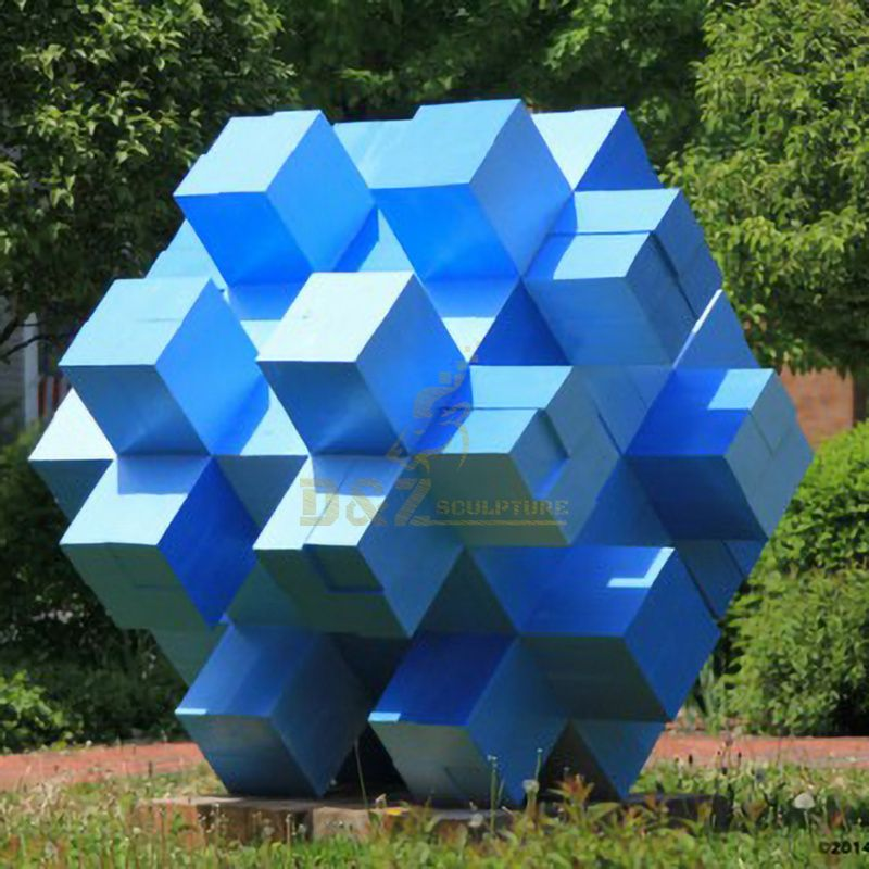 Outdoor Stainless Steel Sculpture Geometric Statue