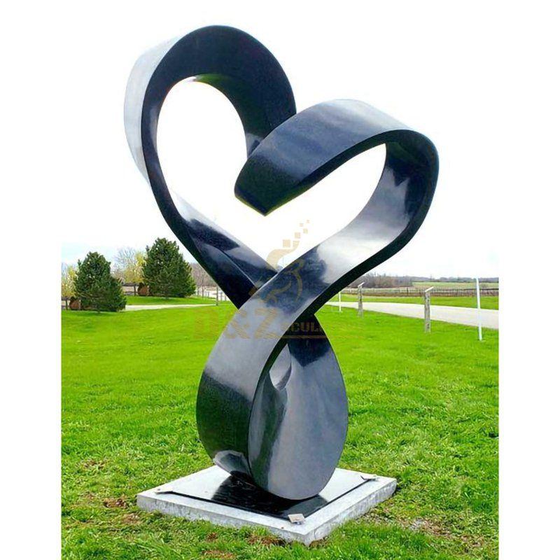 Large Geometric Metal Stainless Steel Modern Sculpture