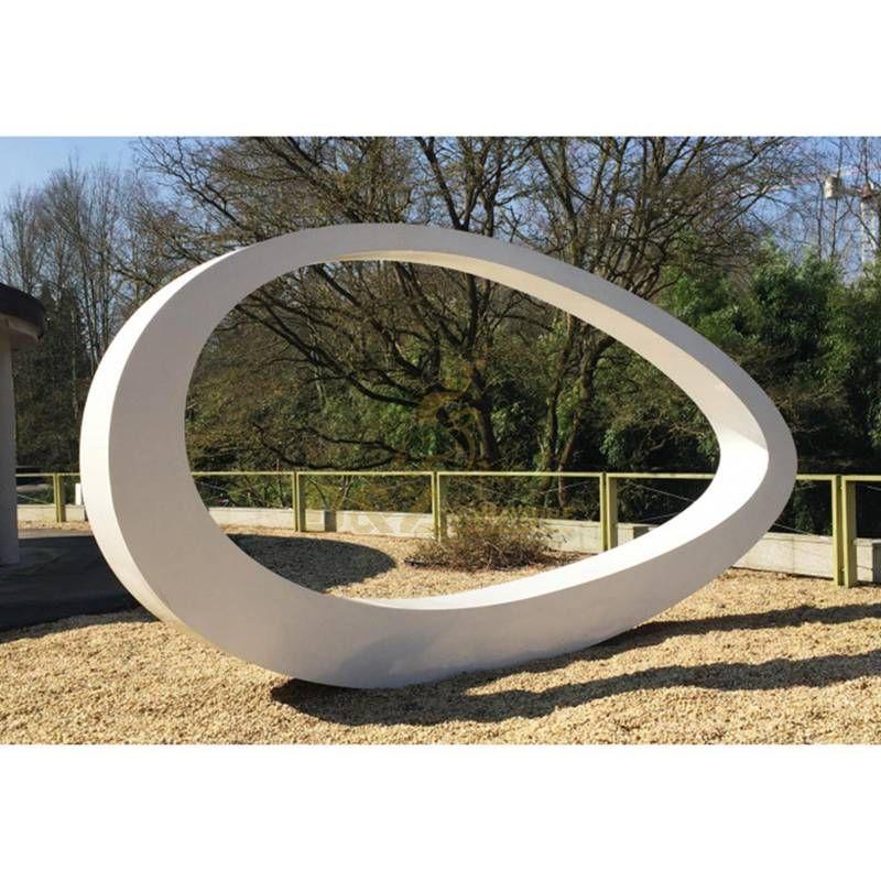 Outdoor Large Circular Design Stainless Steel Metal Sculpture