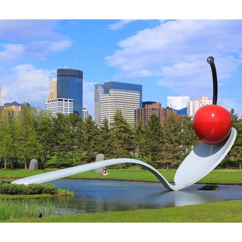 spoonbridge and cherry sculpture