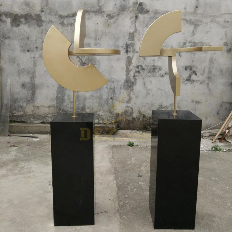 Abstract Home Decoration Ornaments Stainless Steel Indoor Sculpture