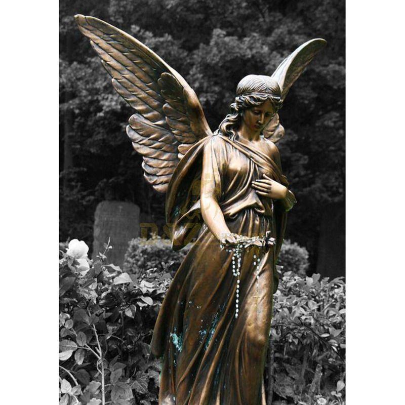 Life Size Bronze Guardian Angel Statue