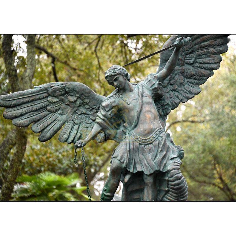 Custom Direct Sale Bronze Sculpture Large City Landscape Bronze Angel Statue