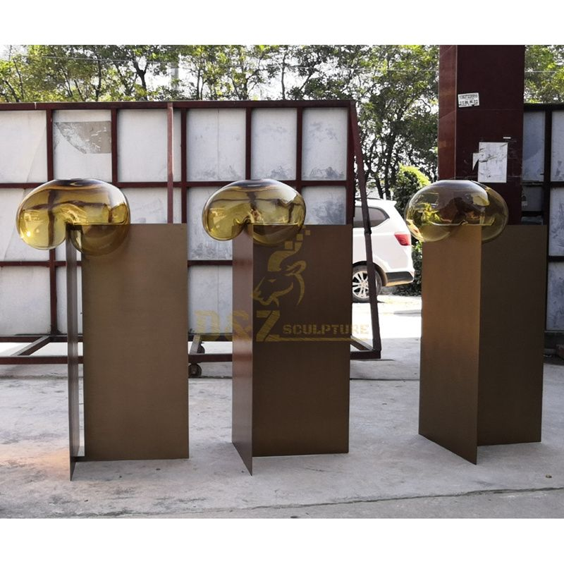 Large Size Stainless Steel Metal Plated Sculpture