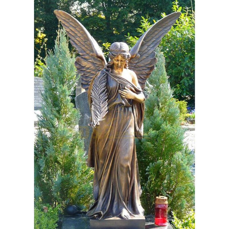 Hotsale High Quality Metal Crafts Winged Bronze Angel Statue