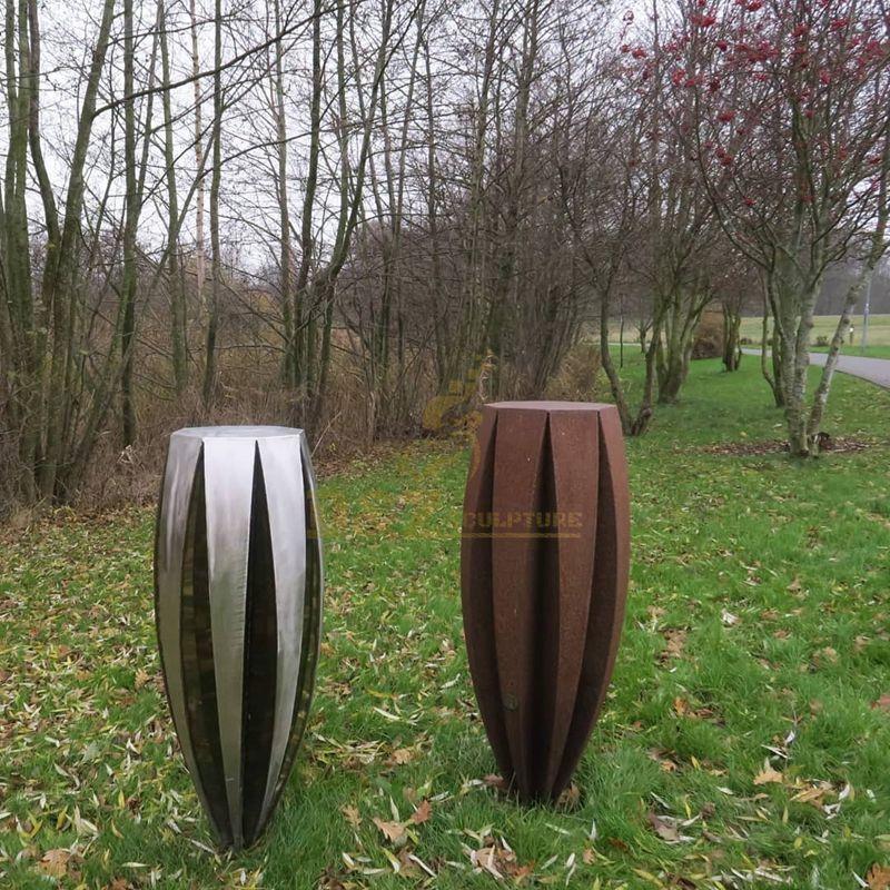 Large Stainless Steel Corten Steel Modern Metal Sculpture