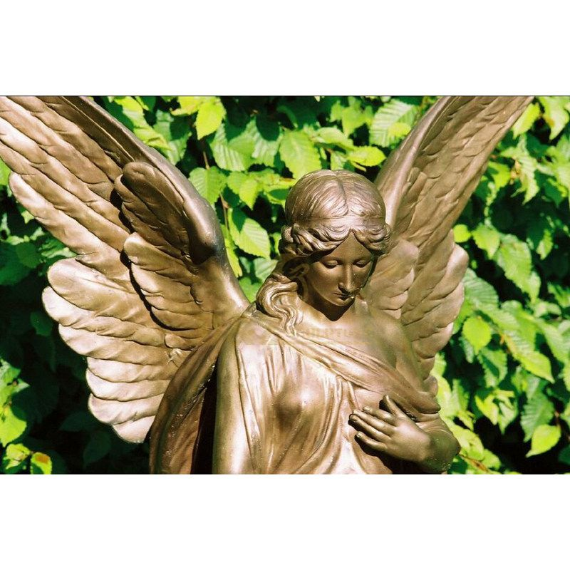 Bronze Finished Metal Sculpture Bronze Angel Statue