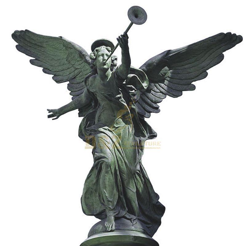 Outdoor Large Decoration Metal Crafts Bronze Angel Statue