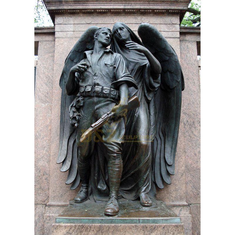 Creative Angel Bronze Sculpture For City Decoration