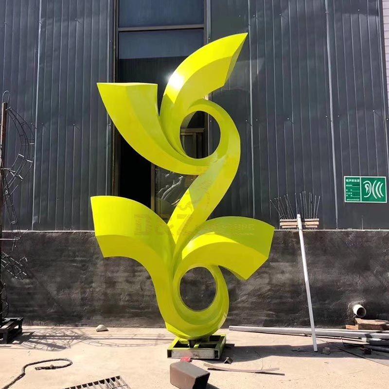 Garden Home Decor Modern Stainless Steel Abstract Arts Sculpture