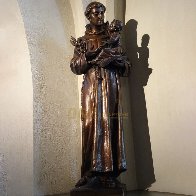 High Quality Bronze Saint Anthony Life Size Statue Sculpture