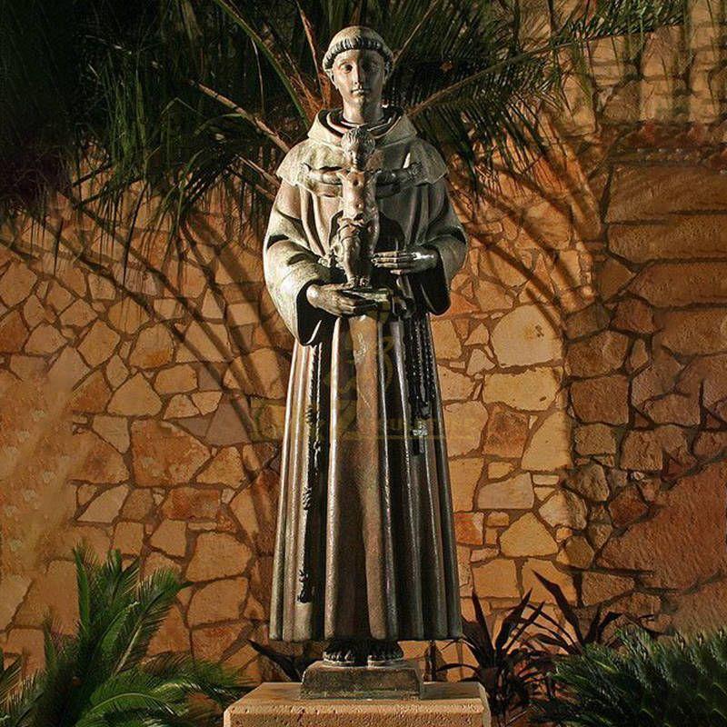 Catholic Statue St.Anthony With Baby Jesus Bronze Religious Statue