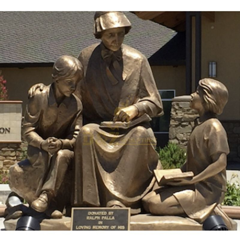 Customized Church Decoration Catholic Religious Statues Saint Elizabeth Ann Seton With Children