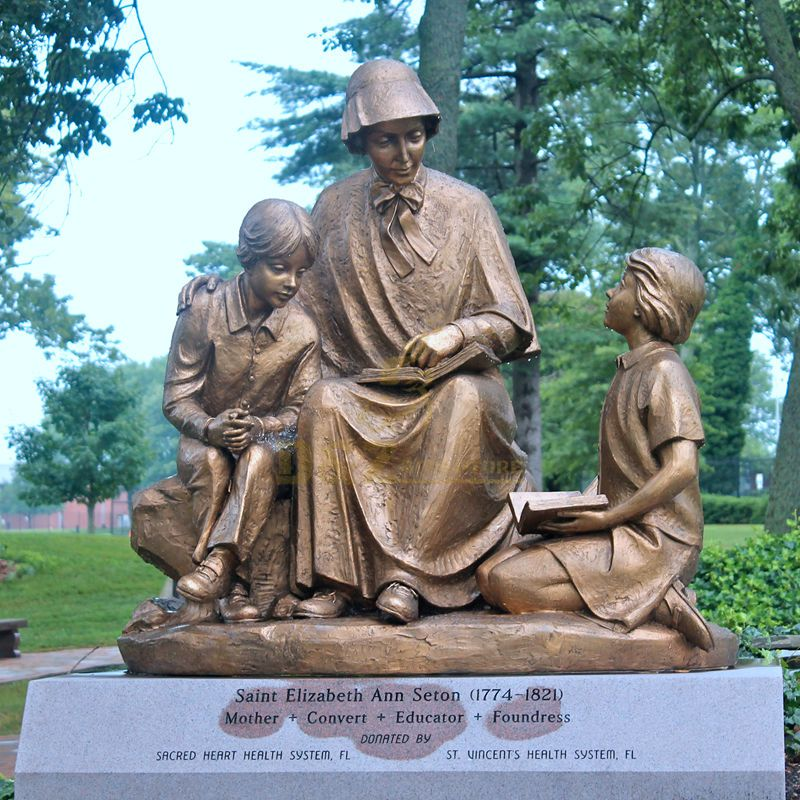 National Shrine Of Saint Elizabeth Ann Seton Teaching Bronze Statue