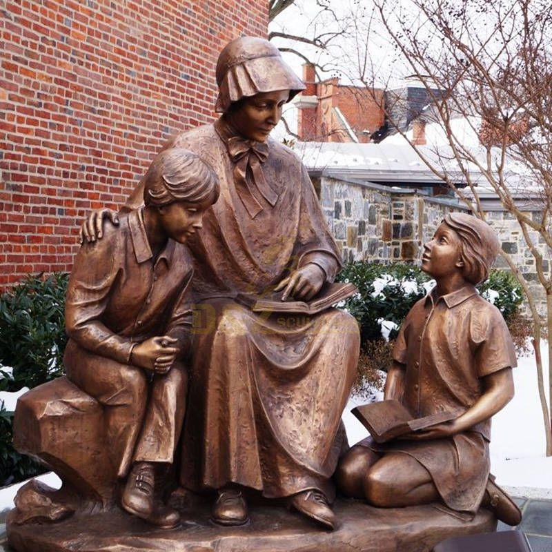Metal Bronze Catholic Religious Saint Elizabeth Ann Seton Statue