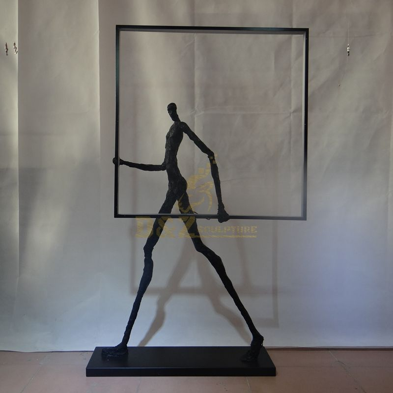 Outdoor Garden Famous Bronze Giacometti Sculpture
