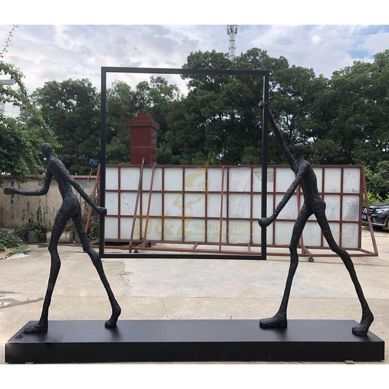 Abstract Bronze Figure Statue Bronze Giacomettis Sculpture