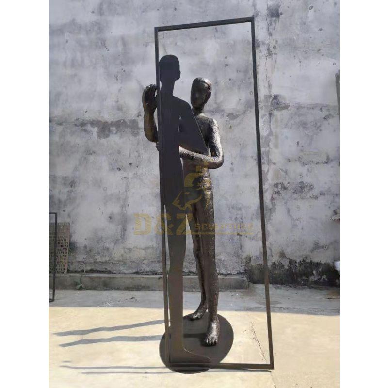 Antique Bronze Giacomettis Striding Walking Man Sculpture