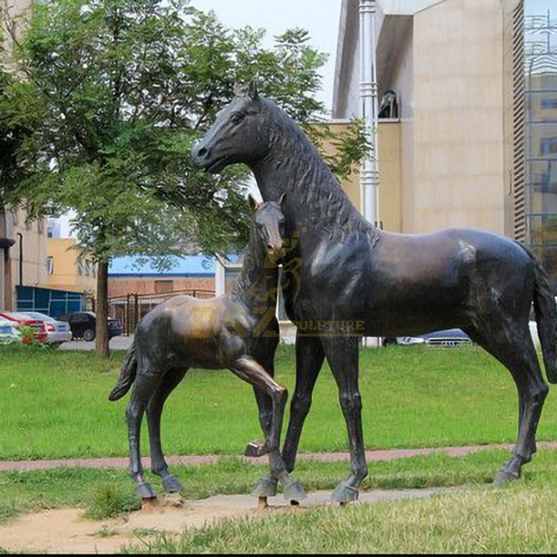 Outdoor Decorative Sculpture Bronze Horse Statue