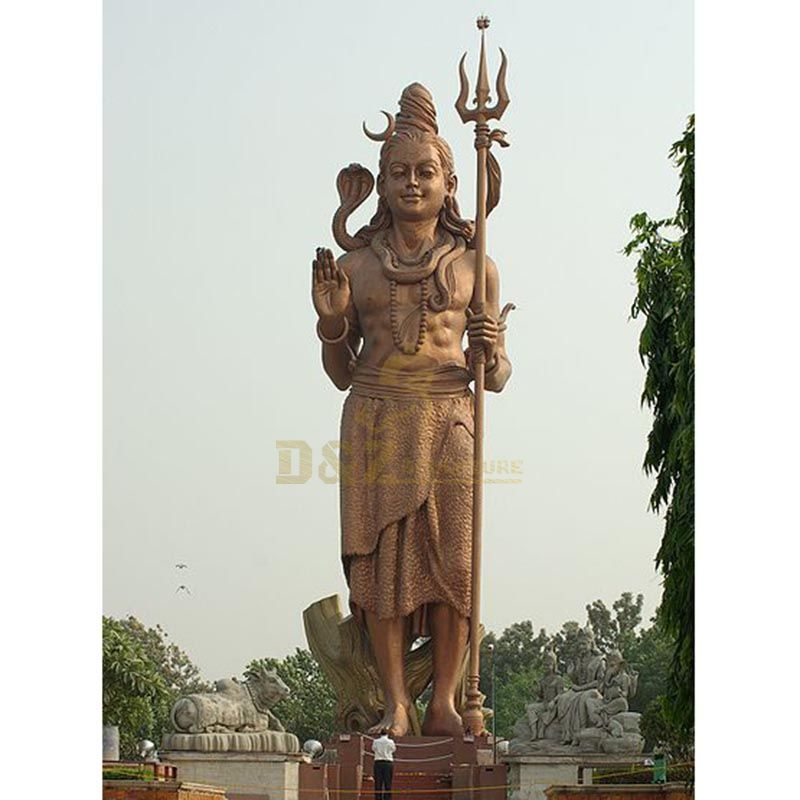 Casting Bronze Lord Shiva Statue For Temple Decoration