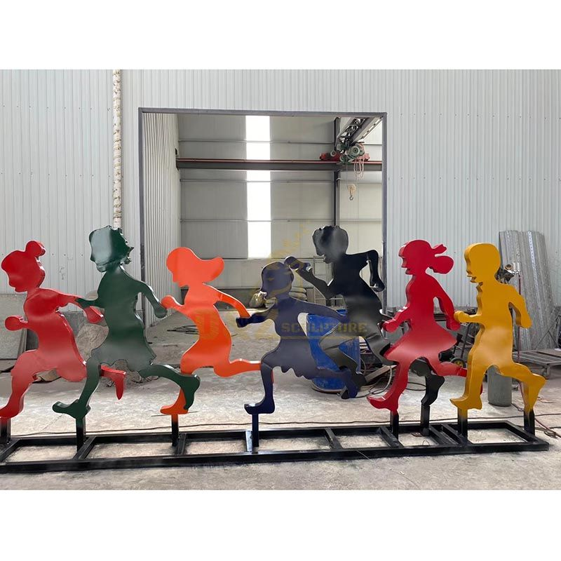 Colorful Sport Figures Stainless Steel Sculpture