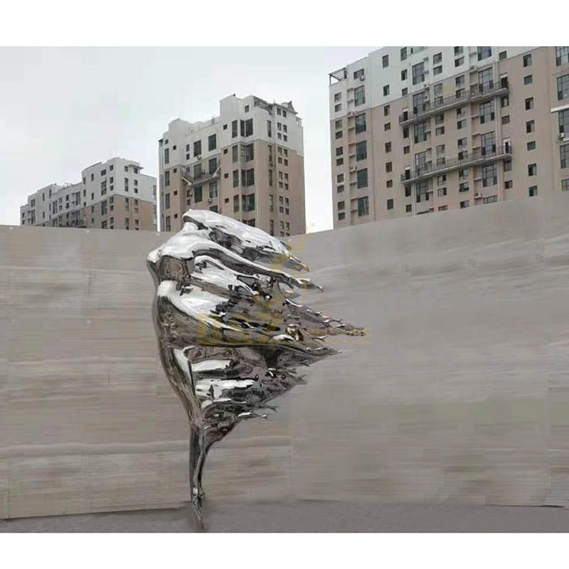 Modern Abstract Woman Stainless Steel Figurative Sculpture