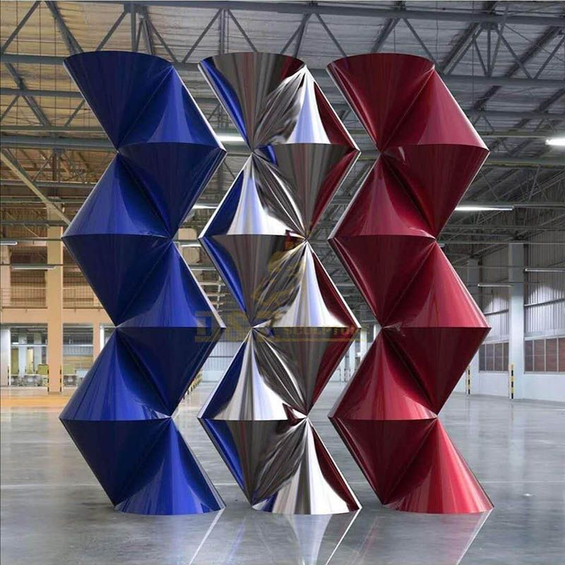 Large Abstract Stainless Steel Geometric Metal Sculpture